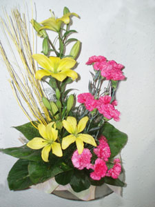 Arrangement of Lily and Carnation