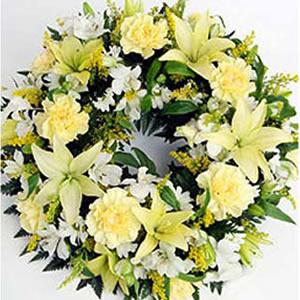 Mixed Exotic Flowers Wreath