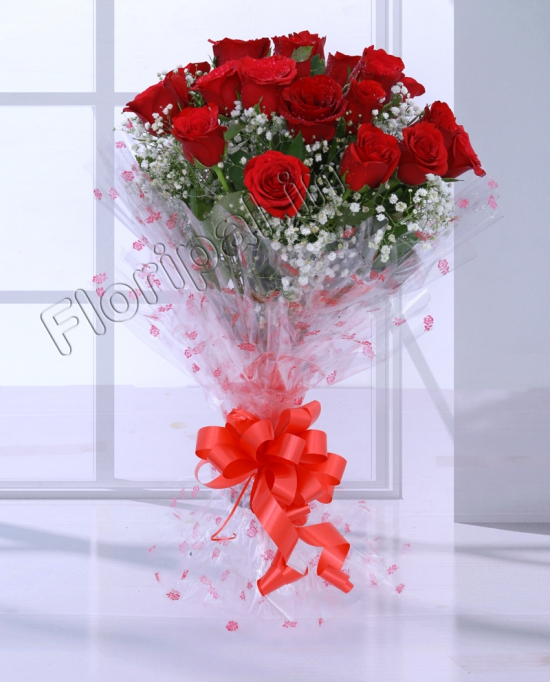 15 Red Roses Bunch flowers delivery in 15 Red Roses Bunch
