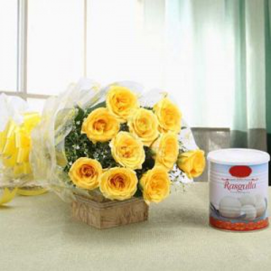 Yellow Rose & Rasgulla Pack