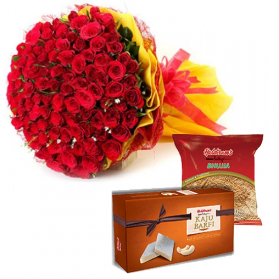 Bunch & Sweet & Haldiram Namkeen Pack