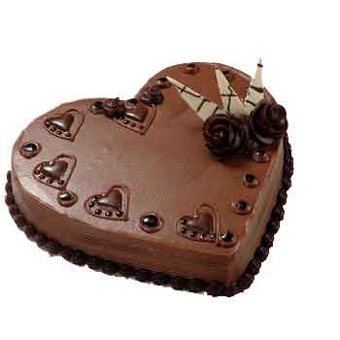 3 kg Heart Shape Chocolate Cake
