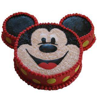 3kg Micky Mouse Face Cake flowers delivery in 3kg Micky Mouse Face Cake