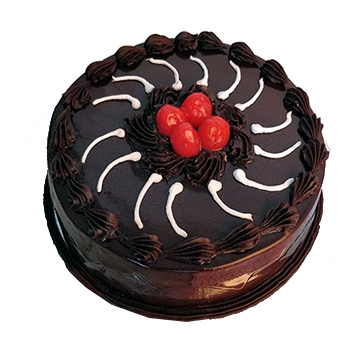 Eggless Chocolate Truffle Cake flowers delivery in Eggless Chocolate Truffle Cake