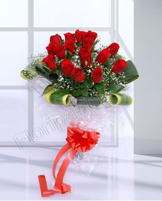 15 red rose bunch