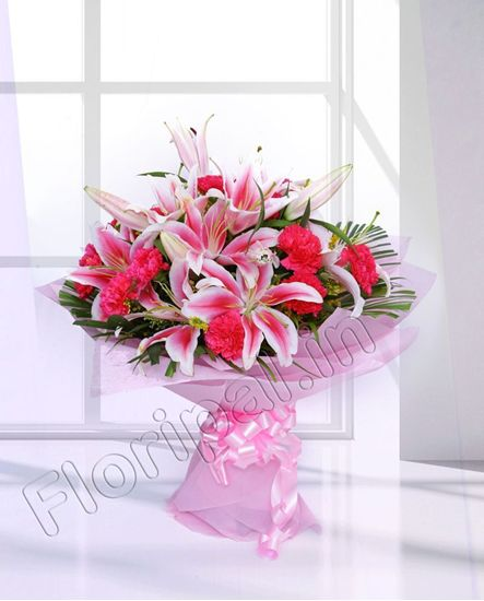 Lily and Carnation bunch