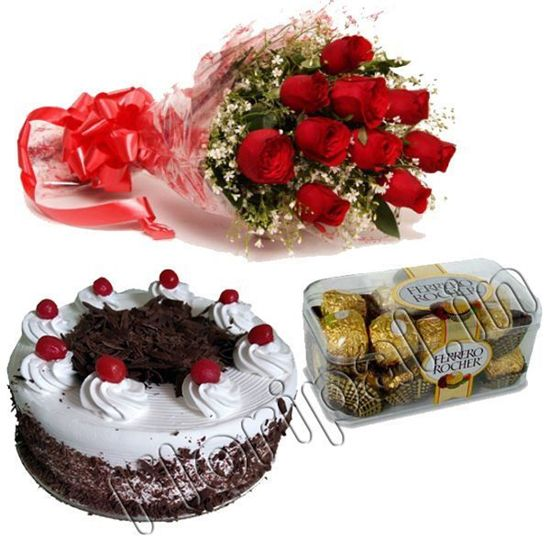 Roses, Cake and chocolate