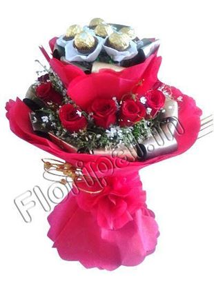 Roses chocolate bunch