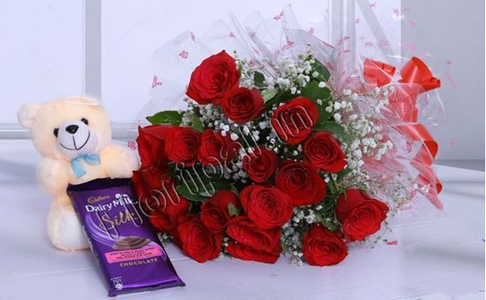 Roses Teddy Chocolate Delivery