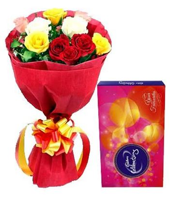 Roses with Chocolate Delivery