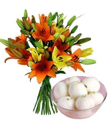 Lillium with Rasogulla Delivery