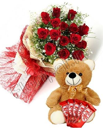 Send Roses Chocolate Teddy