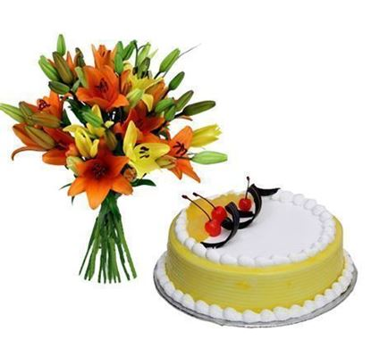 Mixed Lillium with Cake