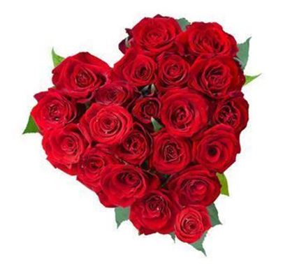 30 Red Rose Heart