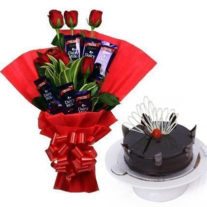 Roses Chocolate and Cake