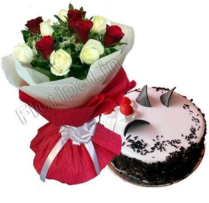 Roses with Cake