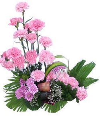 Basket of 20 Pink Carnations