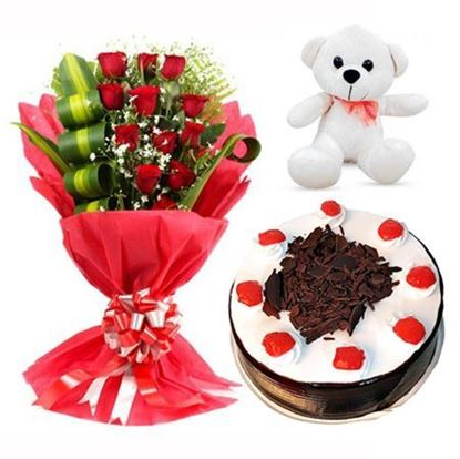 Roses Cake Teddy Delivery